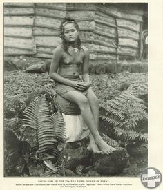 Nude native women on the island