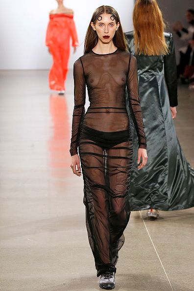 See through fashion runway models