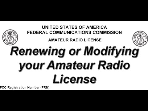 Renewal of amateur radio license