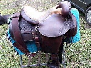 Vintage hereford brand saddles