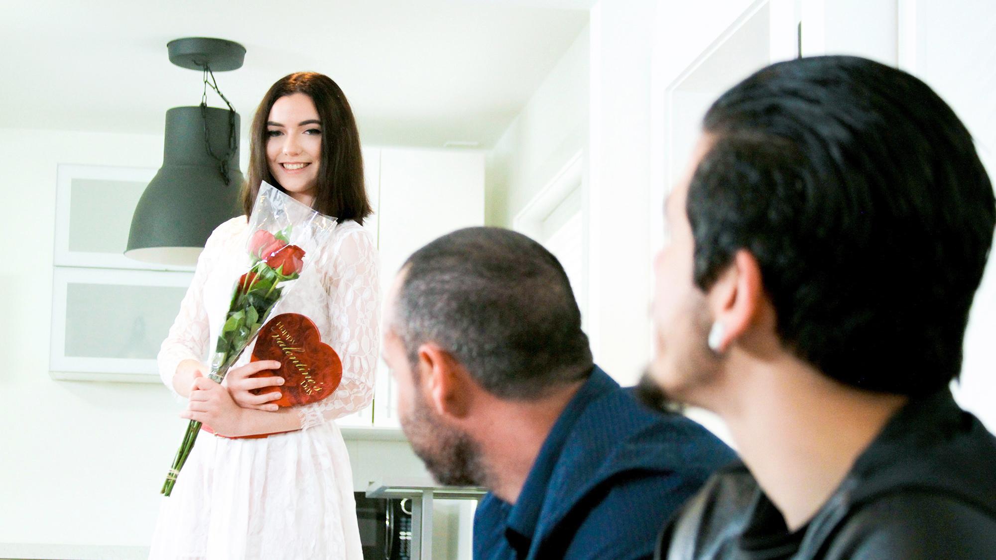 Valentine s day sex surprise