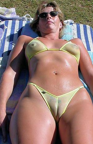 Amature mature women micro bikini