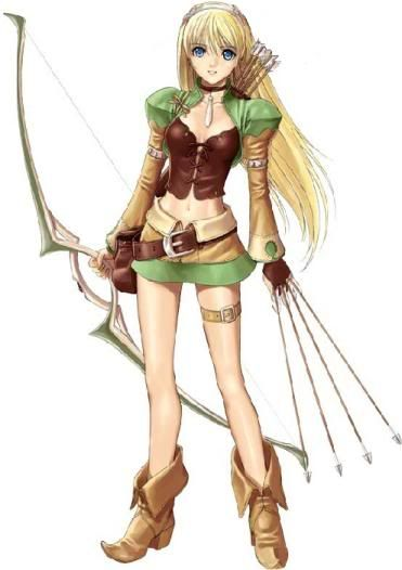 Wood elf anime girl