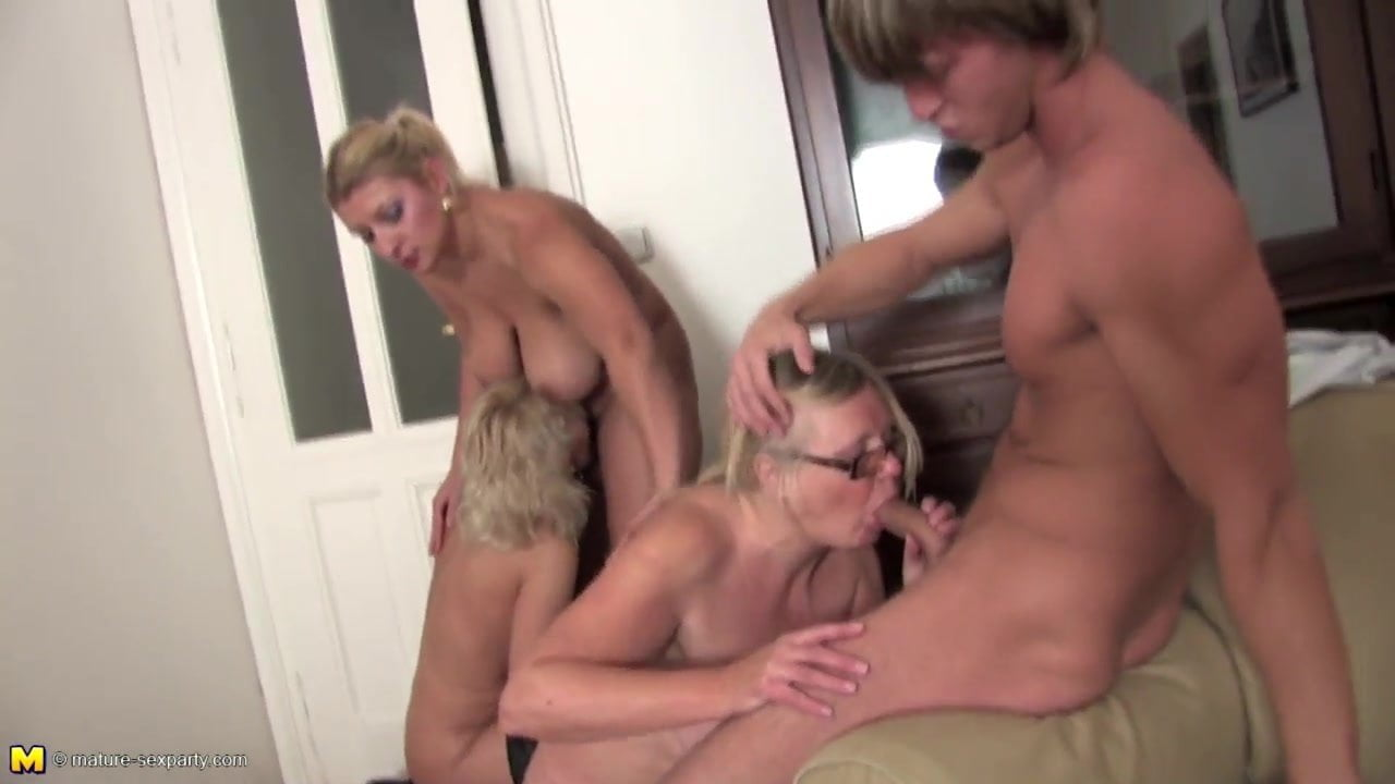 Mature group sex moms