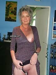 Nude mature women flashing in public