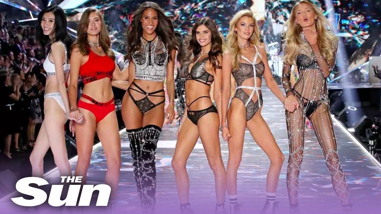 Streaming video of lingerie modeling