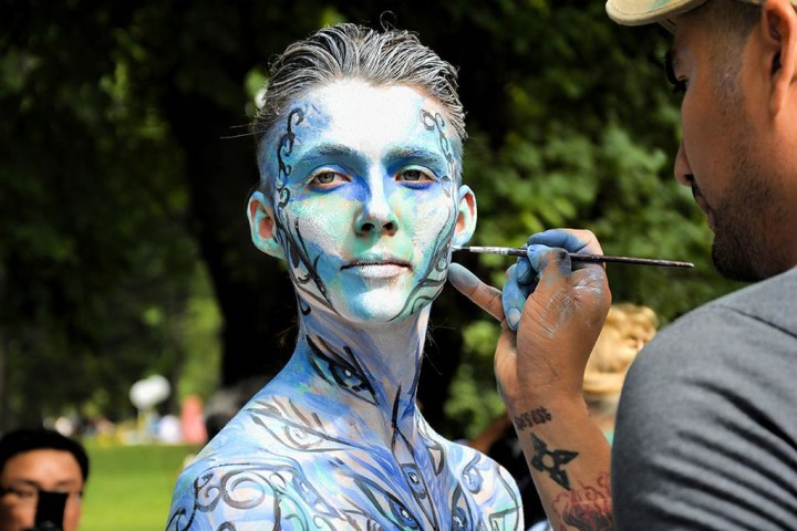 Jr nudist body painting celebration