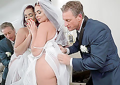 Bride fucked hard at wedding