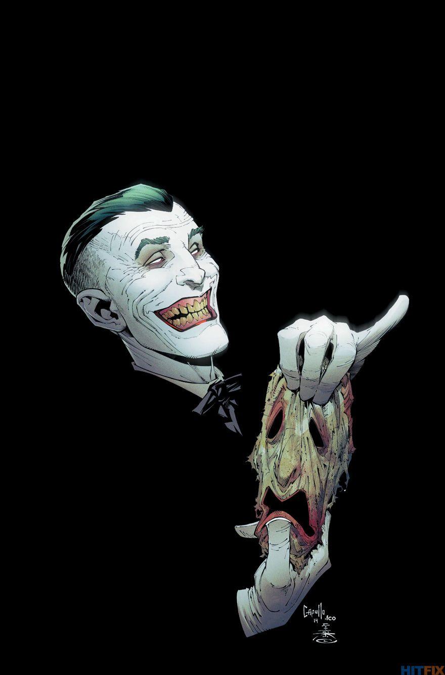 Batman comics joker cuts off his face