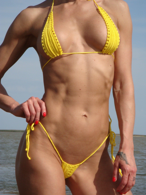 Extreme tiny micro string bikini contest