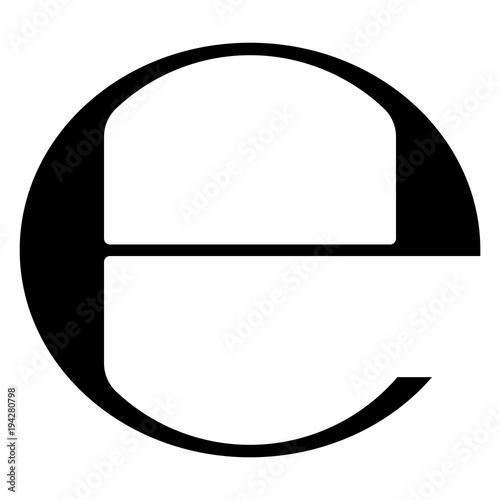E at sign symbol vector