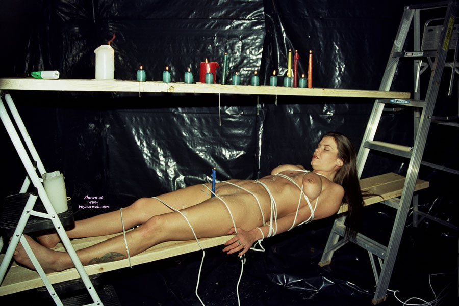 Naked girl in bondage