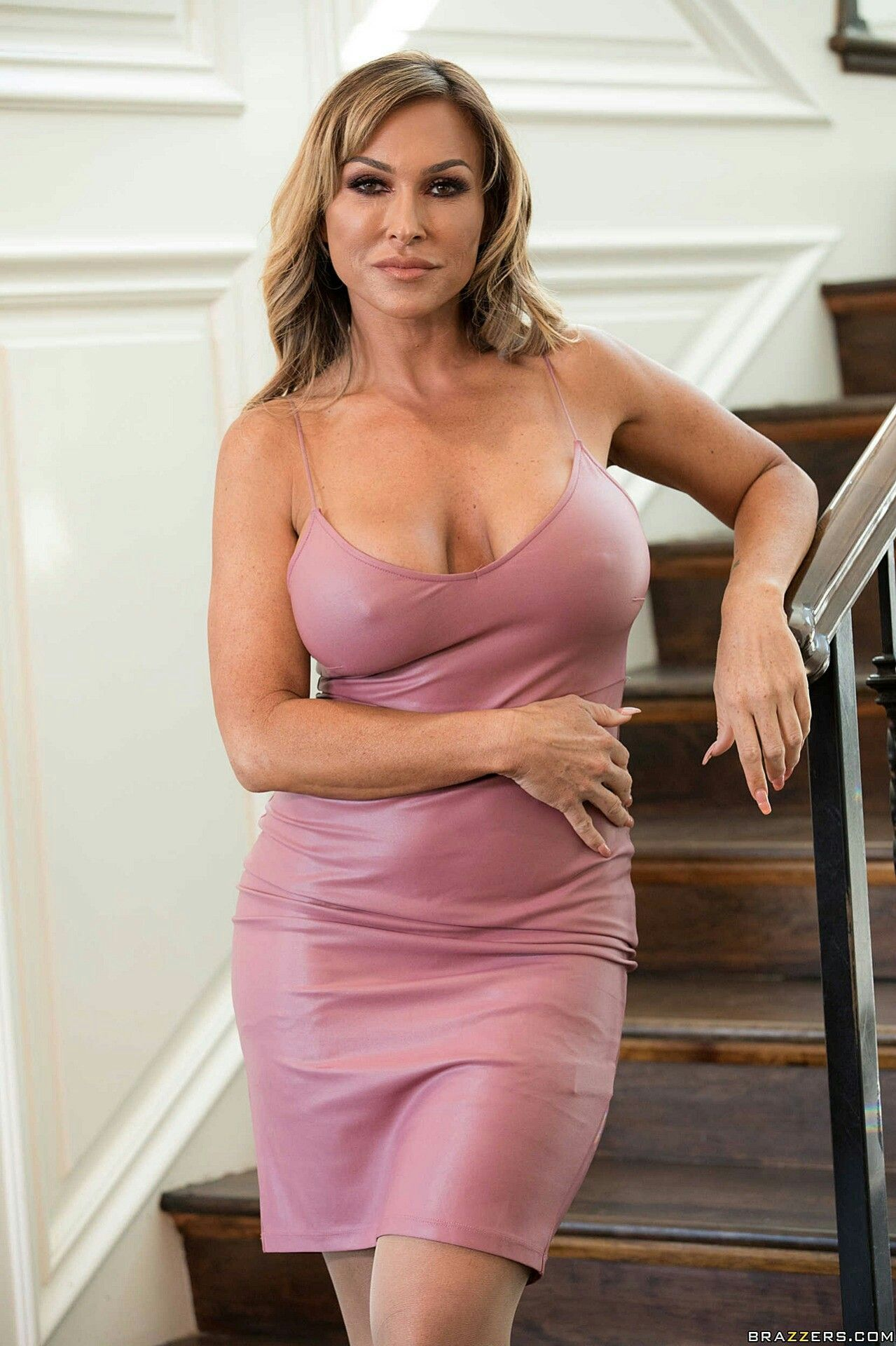 Sexy mature see through tight dress