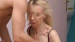 Ugly slut loves to show her pussy