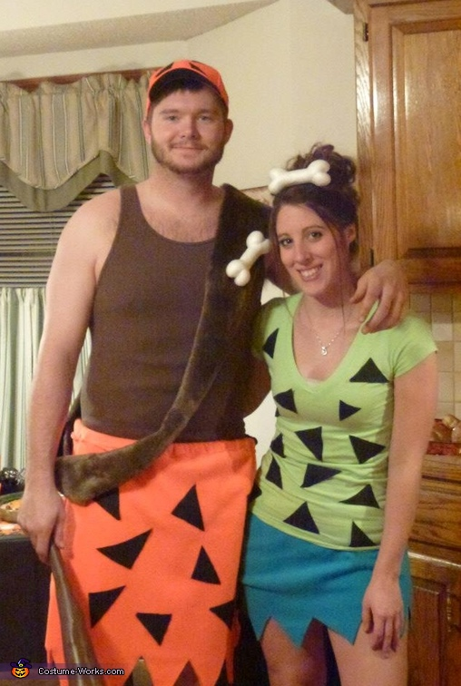 Homemade pebbles costume for adults