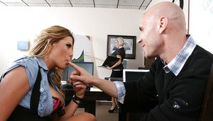 Hot office girls kissing