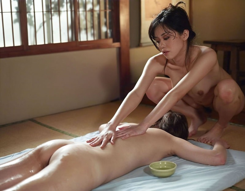 Japanese nude shower massages happy endings