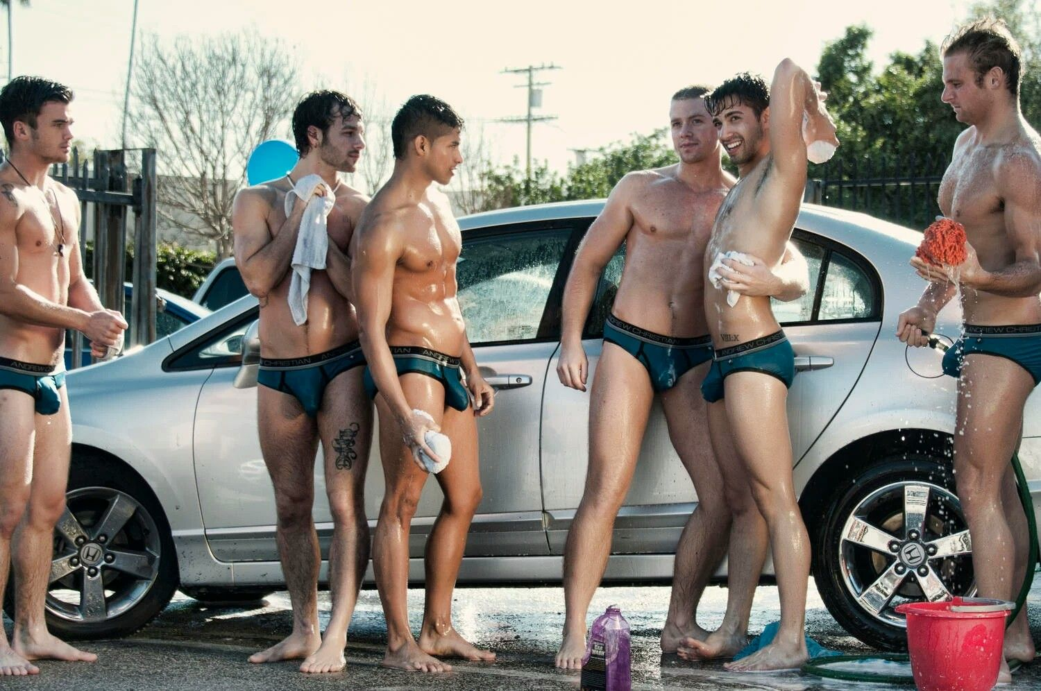 Andrew christian freshman car wash