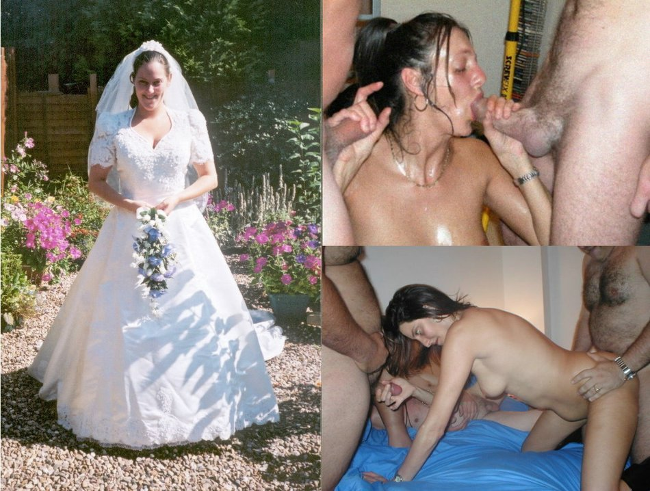 Amateur and bride and sex
