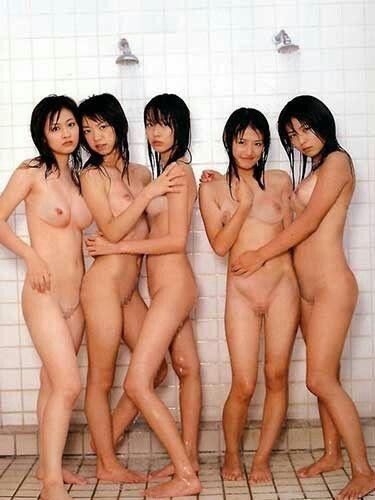Naked asian women group