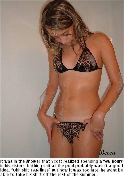 Sissy bikini tan lines