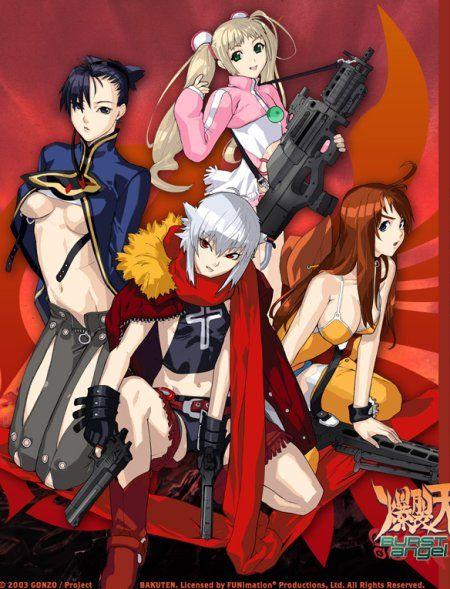 Burst angel anime girls