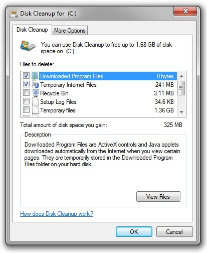 Deleated files and porn cleaner