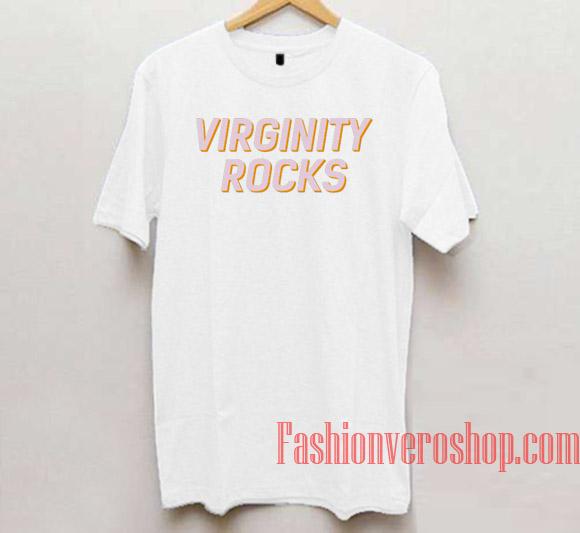 Virginity rocks t- shirts