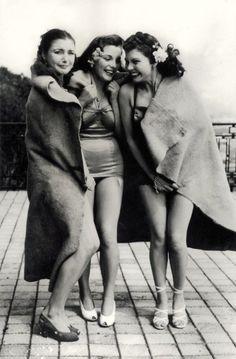 Vintage retro teen nudists