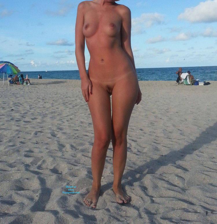 Nude girl on beach