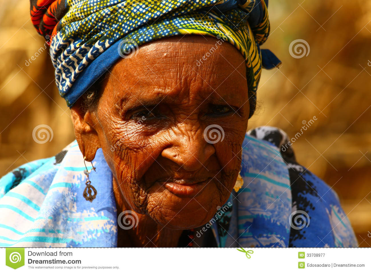 Very old african granny