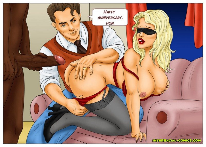 Interracial cuckold cartoon porn