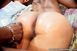 Round and nice black ass porn