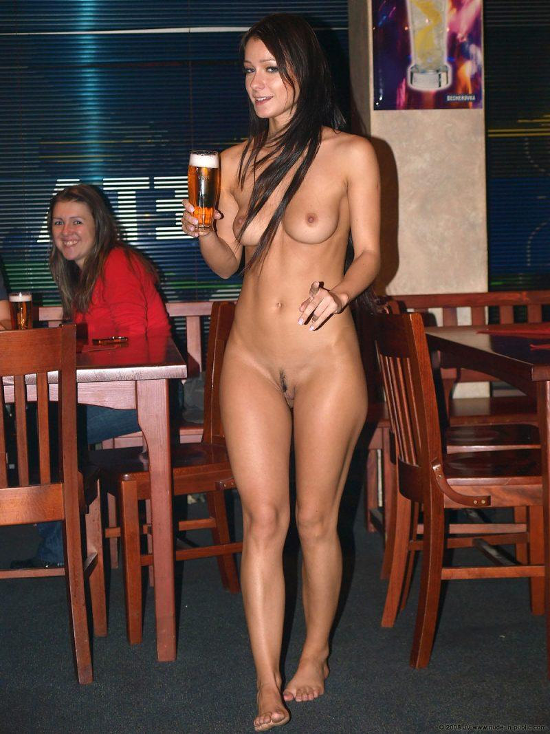 Nearly nude girls in public
