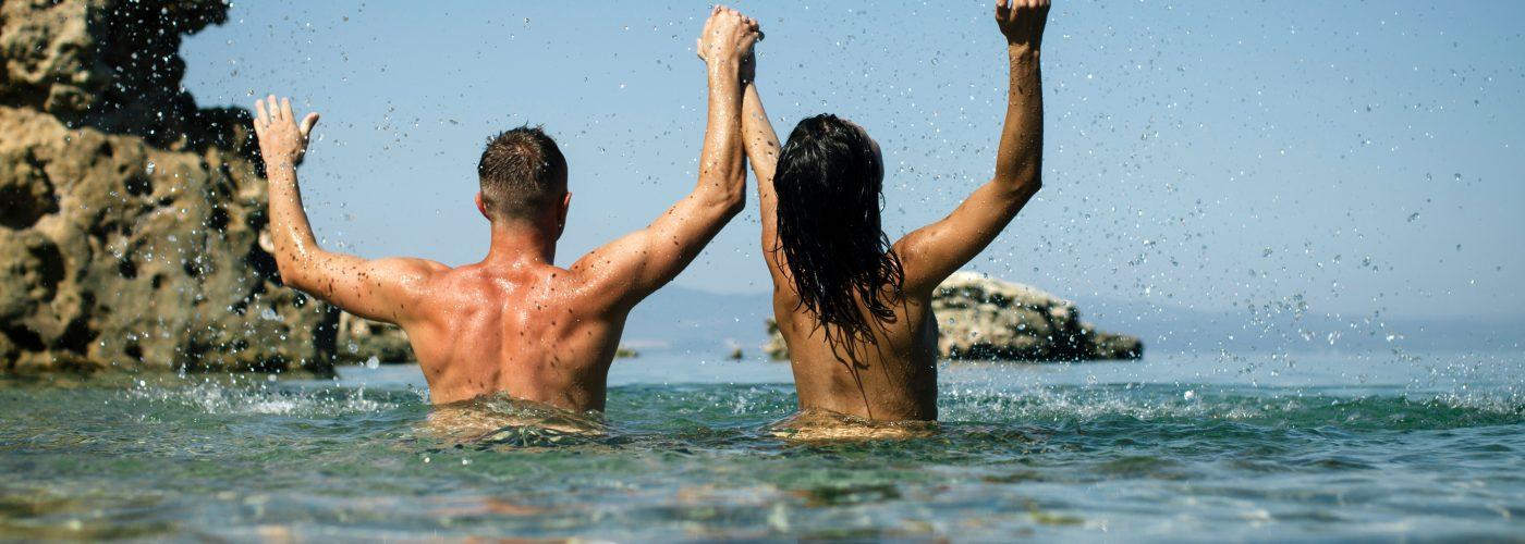 Public topless beach girls