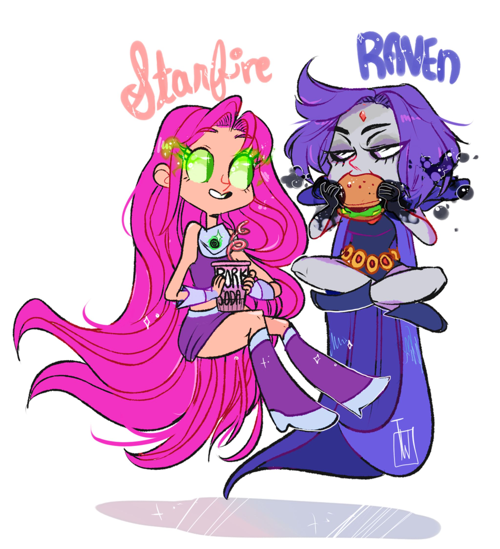 Teen titans raven and starfire