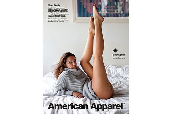American apparel ads banned