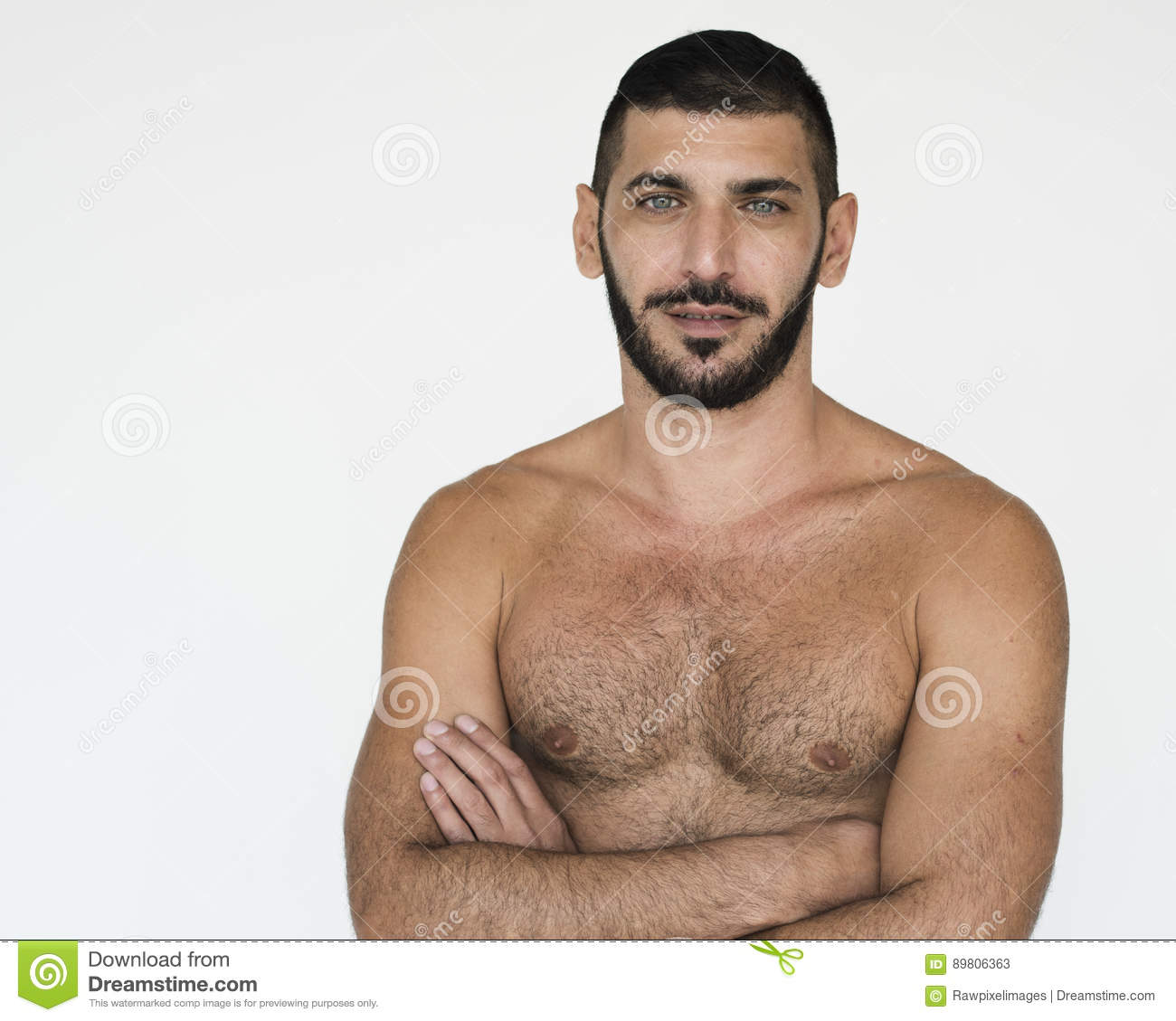 Hairy middle eastern man