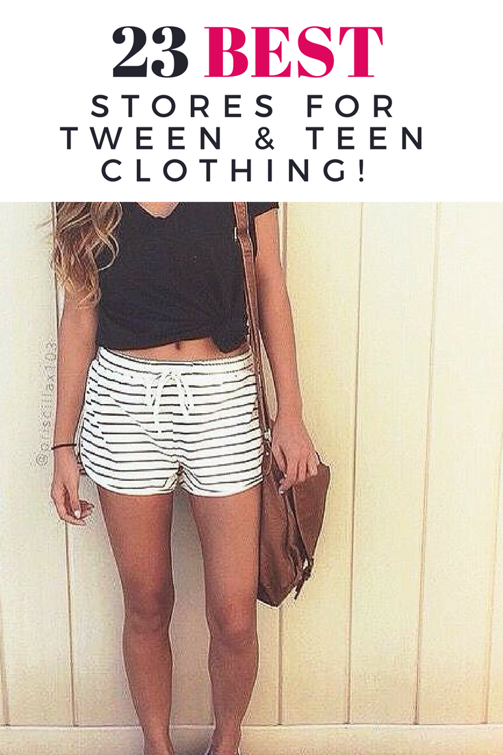 Clothes shopping for teens online