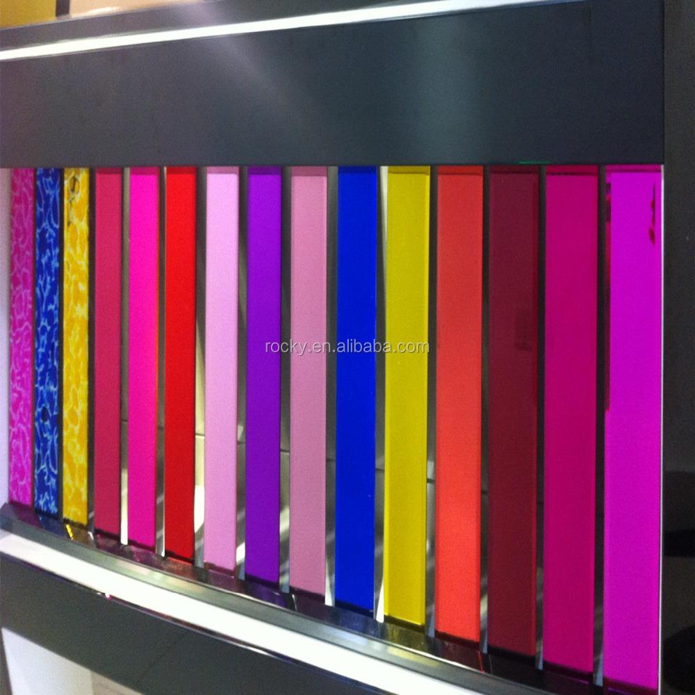 Beveled acrylic mirror strips