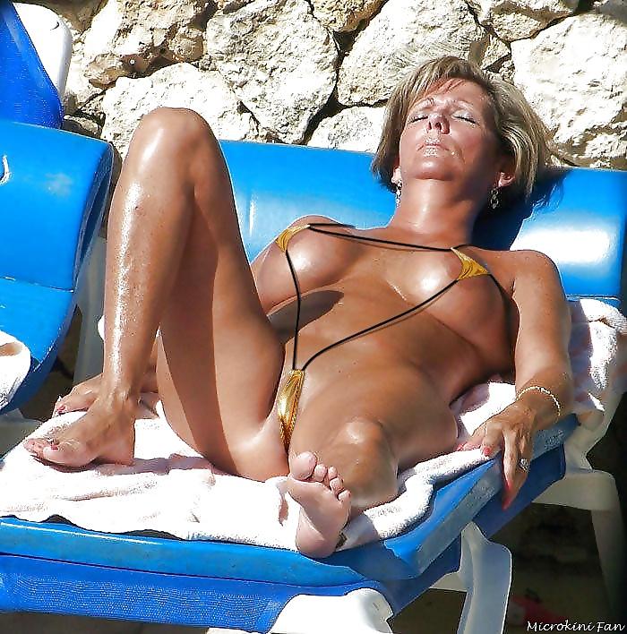 Mature public voyeur beach bikini