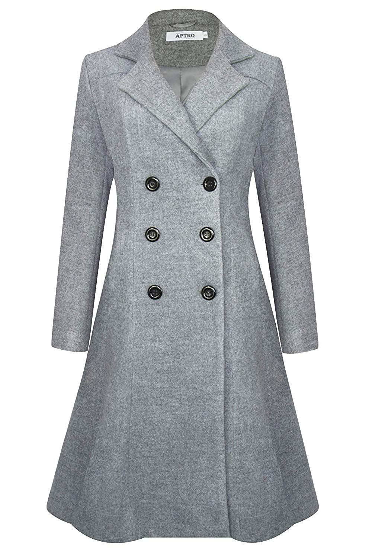Long vintage womens coat
