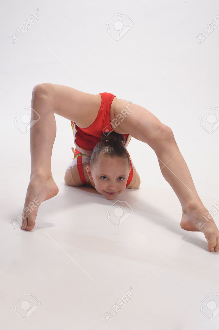 Russian teen girl gymnast