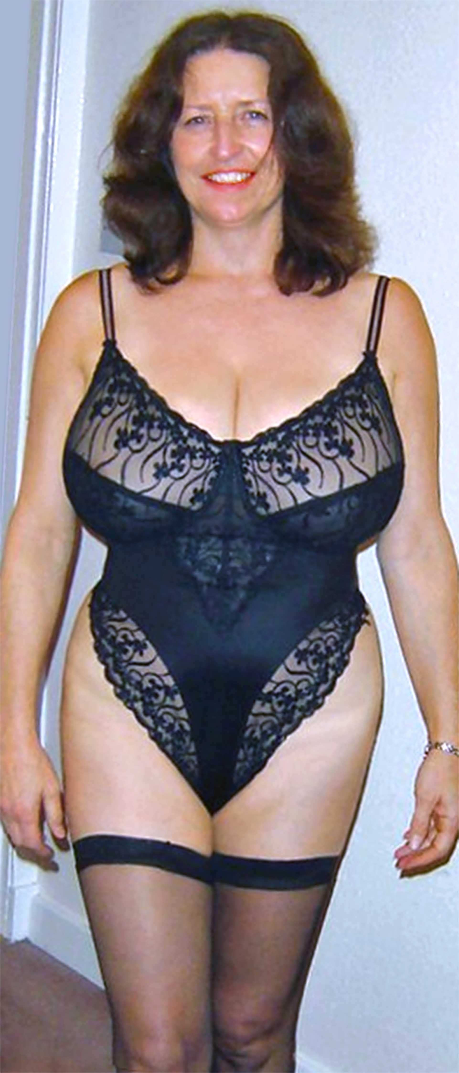 Mature see through lace panties