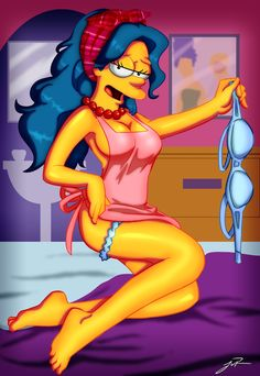 Cartoon sexy lingerie pin- up pics marge simpson
