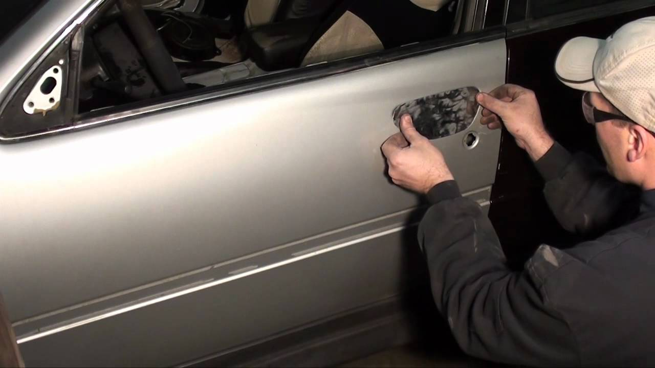 Auto shaved door handle kit