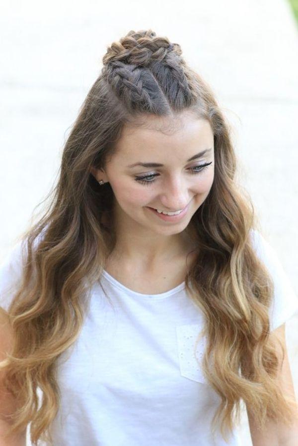 Cute teen girl hair