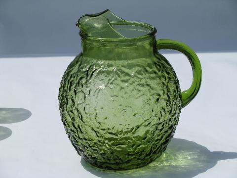 Vintage pitchers and glasses