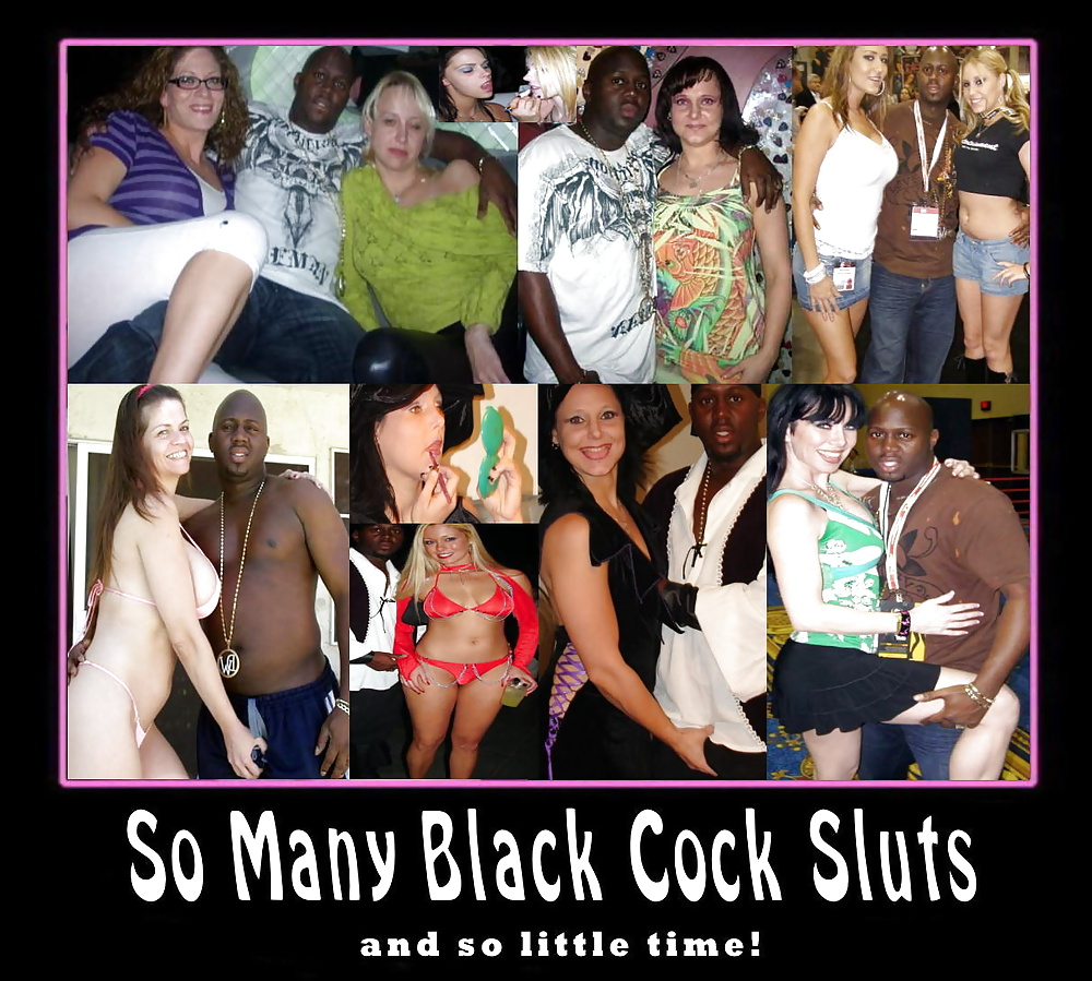 White sluts black cock captions