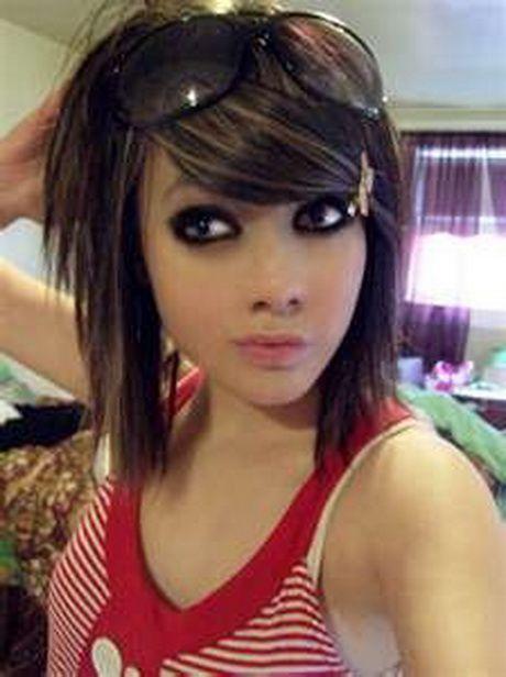 Cute emo girls hairstyles for short hair